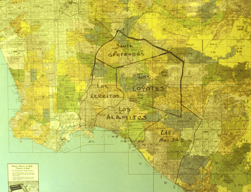 Rancho Los Nietos Map, National Park Service