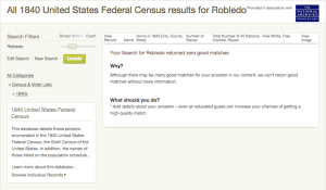 Robledo - 1840 US Census - Ancestry