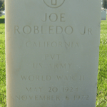 #52Ancestors: Great Uncle Jose Robledo, Jr., WWII Vet, Interred at Los Angeles National Cemetery