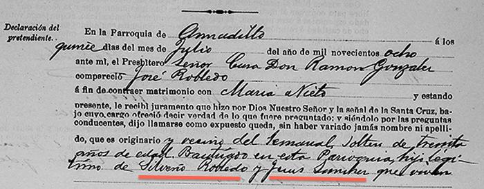 Jose Robledo Marriage, Parents Names