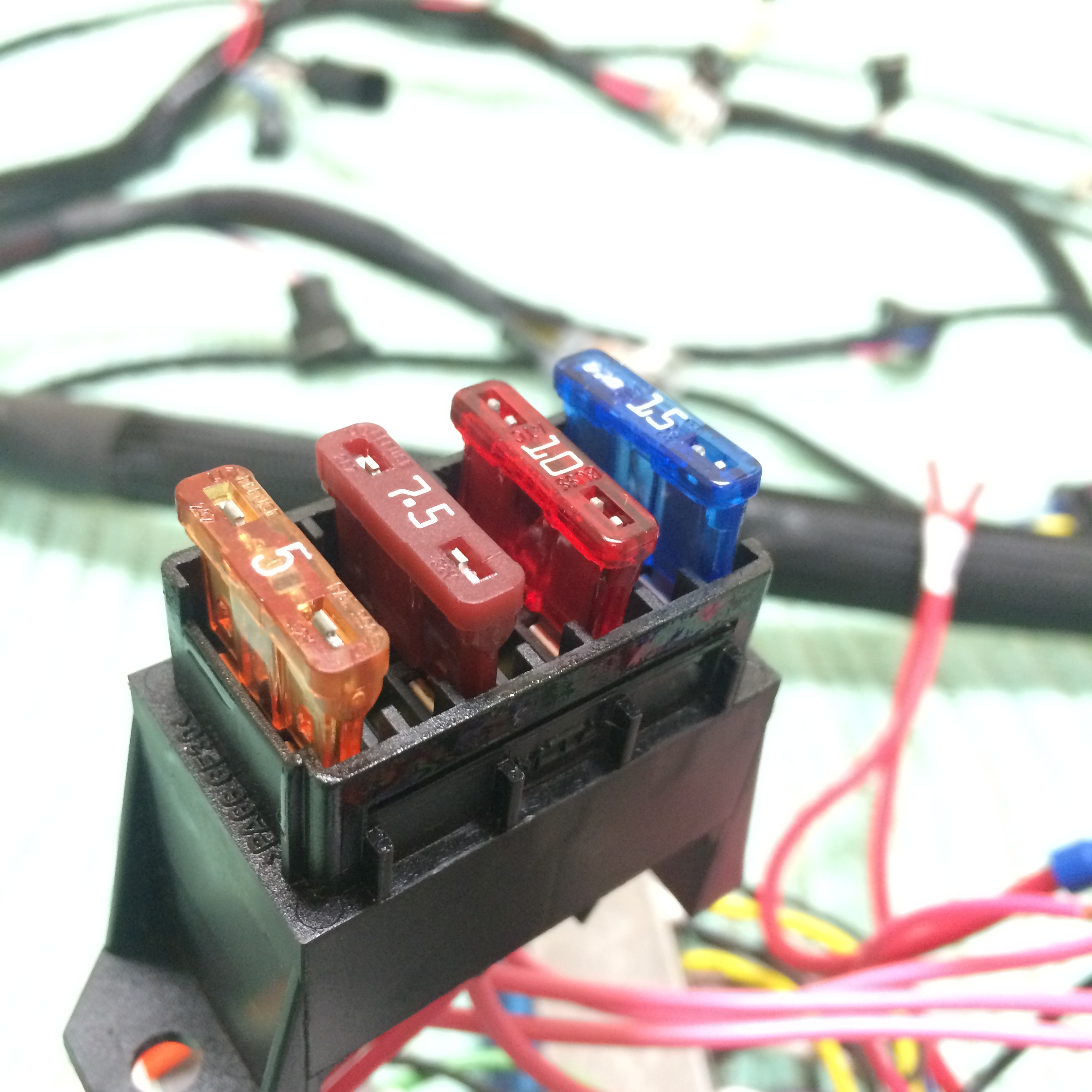 gm ls engine harnesses under the hood brand new connectors not a cut down harness brand new terminals crimped like factory brand new wires no ering joints fuse box included for as plug