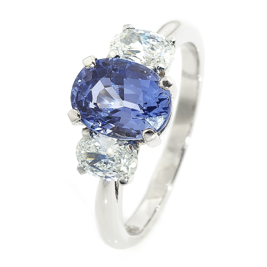 Oval Sapphire And Diamond Ring Gallery