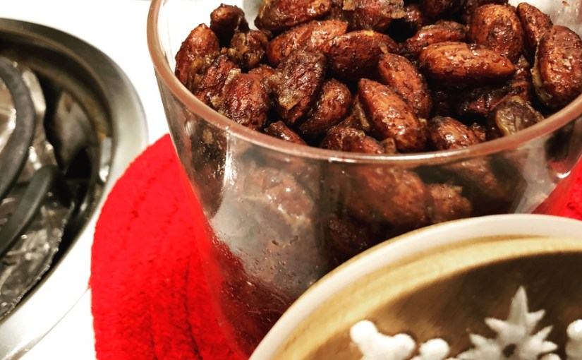 Keto Spiced Candied Almonds