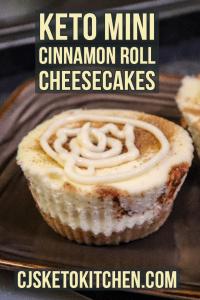 Delicious Keto Mini Cinnamon Roll Cheesecakes