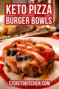 Keto Pizza Burger Bowls