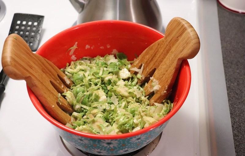 Brussel Sprouts Caesars Salad