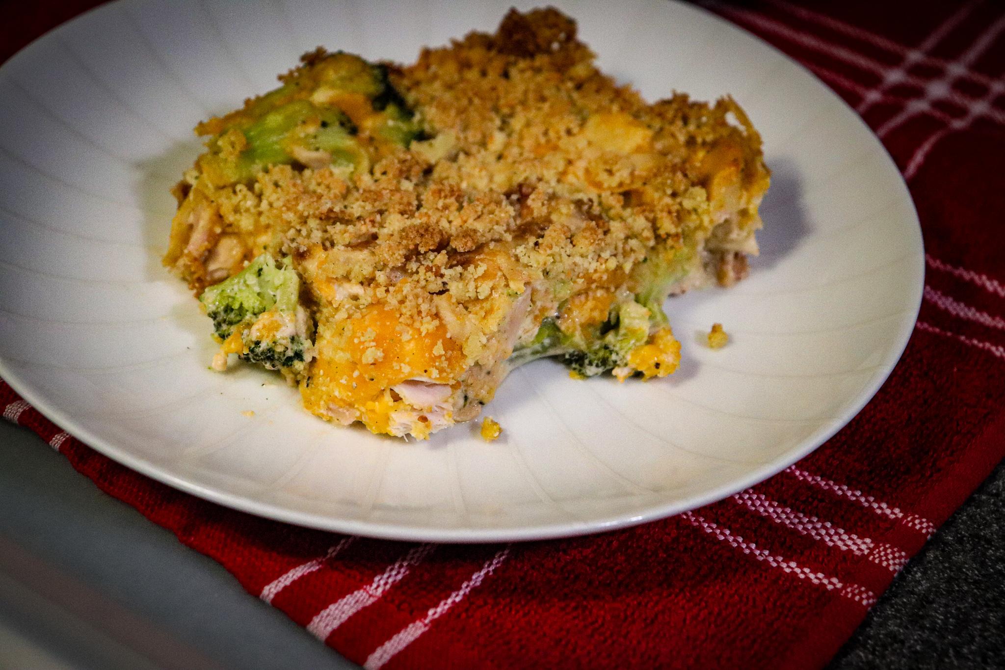 Keto Creamy Chicken and Broccoli Casserole