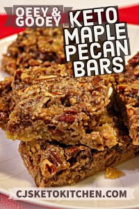 Delicious Keto Maple Pecan Bars