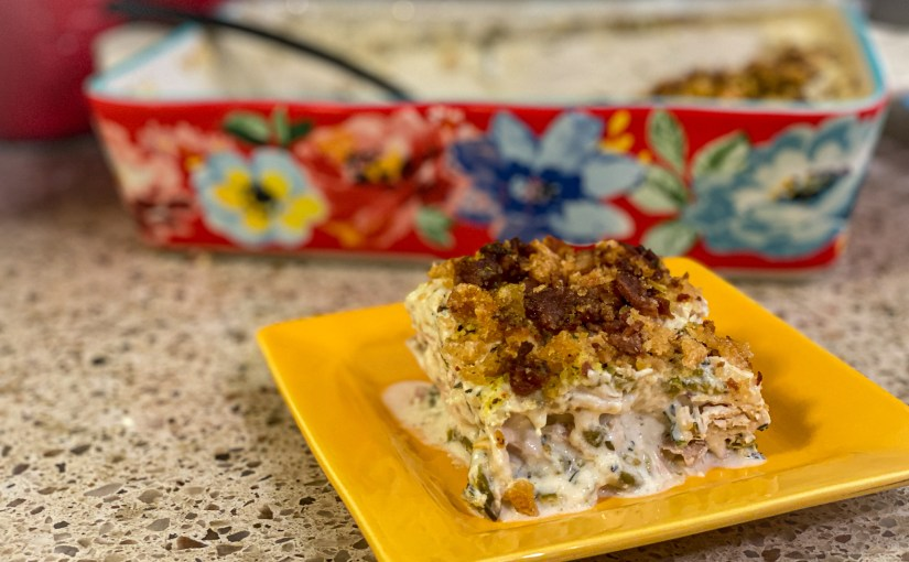 Keto Creamy Chicken Green Bean Casserole