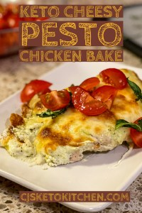 Keto Cheesy Pesto Chicken Bake