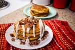 Keto Pumpkin Pancakes with Cream Cheese Glaze