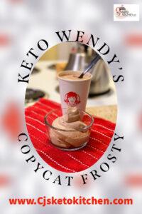 Keto Wendy's copycat frosty