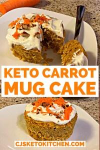 Keto Carrot Mug Cake