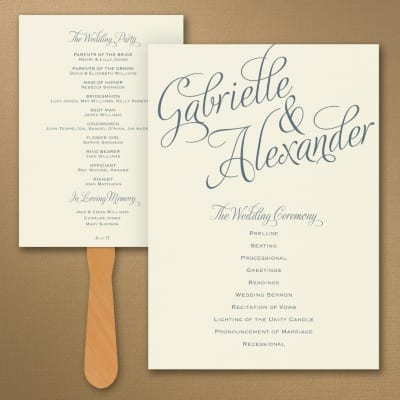 programs for your wedding