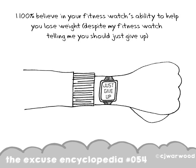 Fitness Watch Wars Weekly Excuse Cartoon