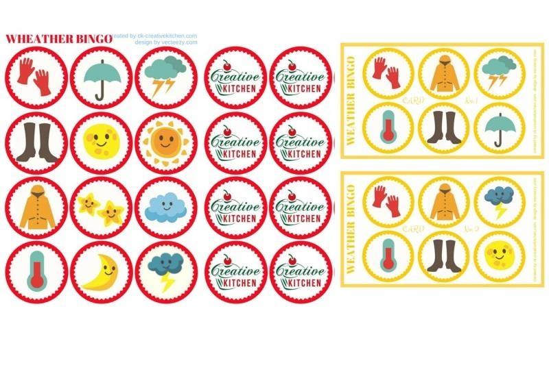 Weather Bingo Card Free Printables Creative Kitchen