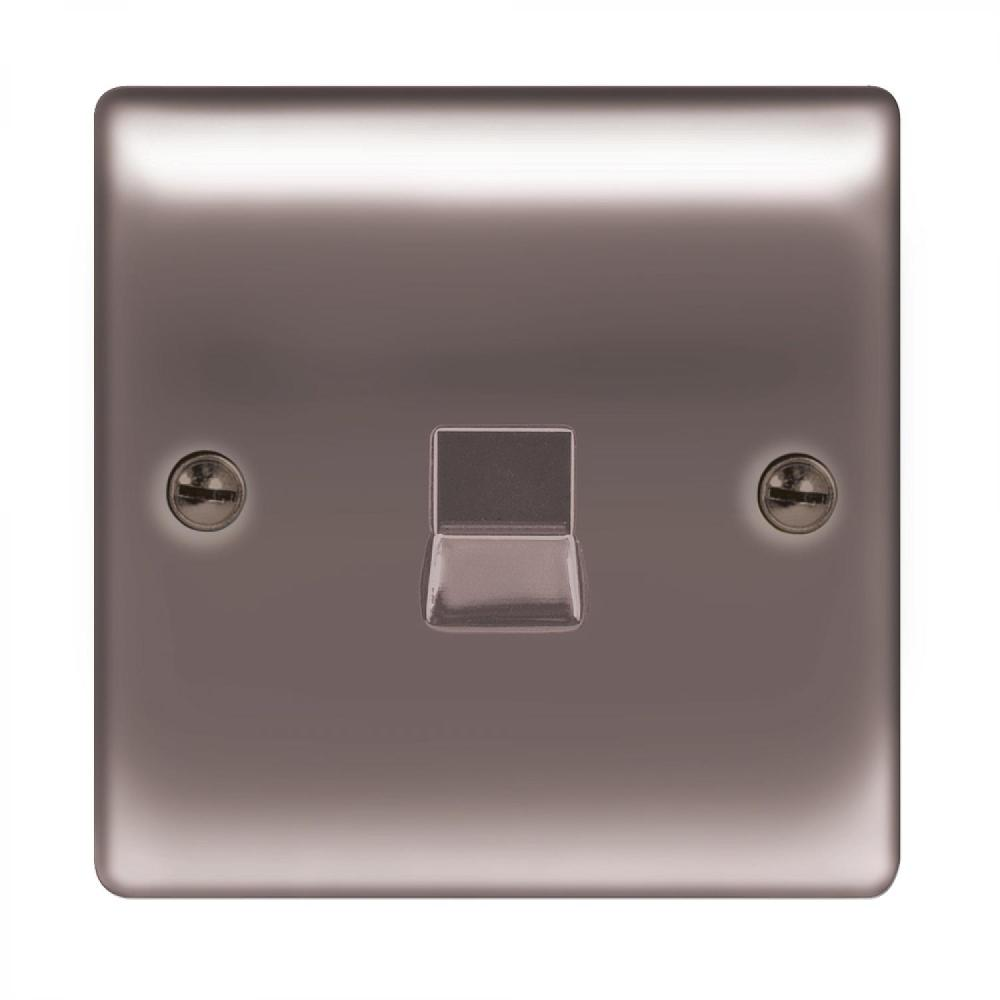 medium resolution of 1 gang bt master socket black chrome