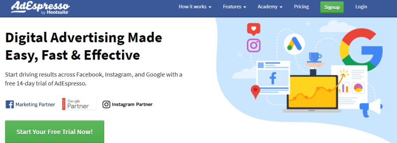 social media marketing tools - adespresso
