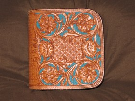 CD Case Carved with Teal Barcground