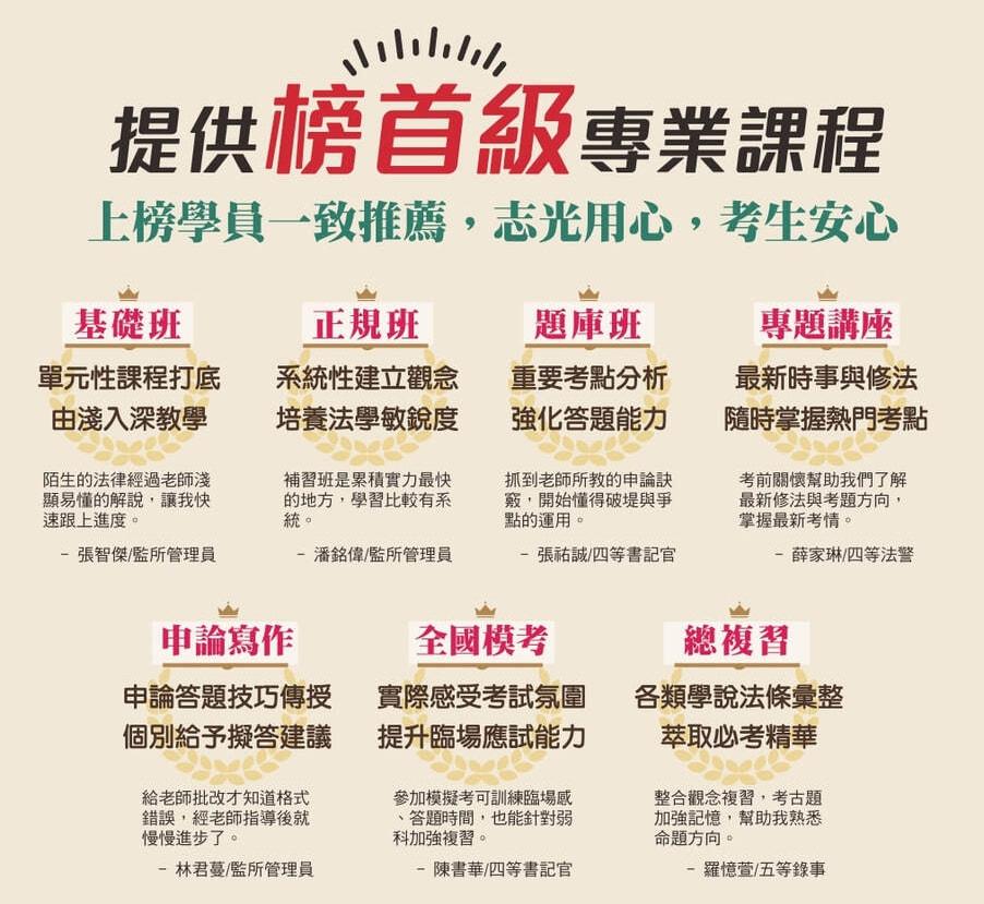 司法特考2020/109高雄司法補習班推薦《高雄志光》 - 高雄志光公職補習班