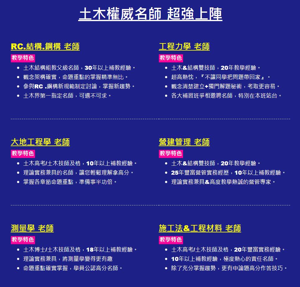 土木工程.技師 - 高雄志光行動網
