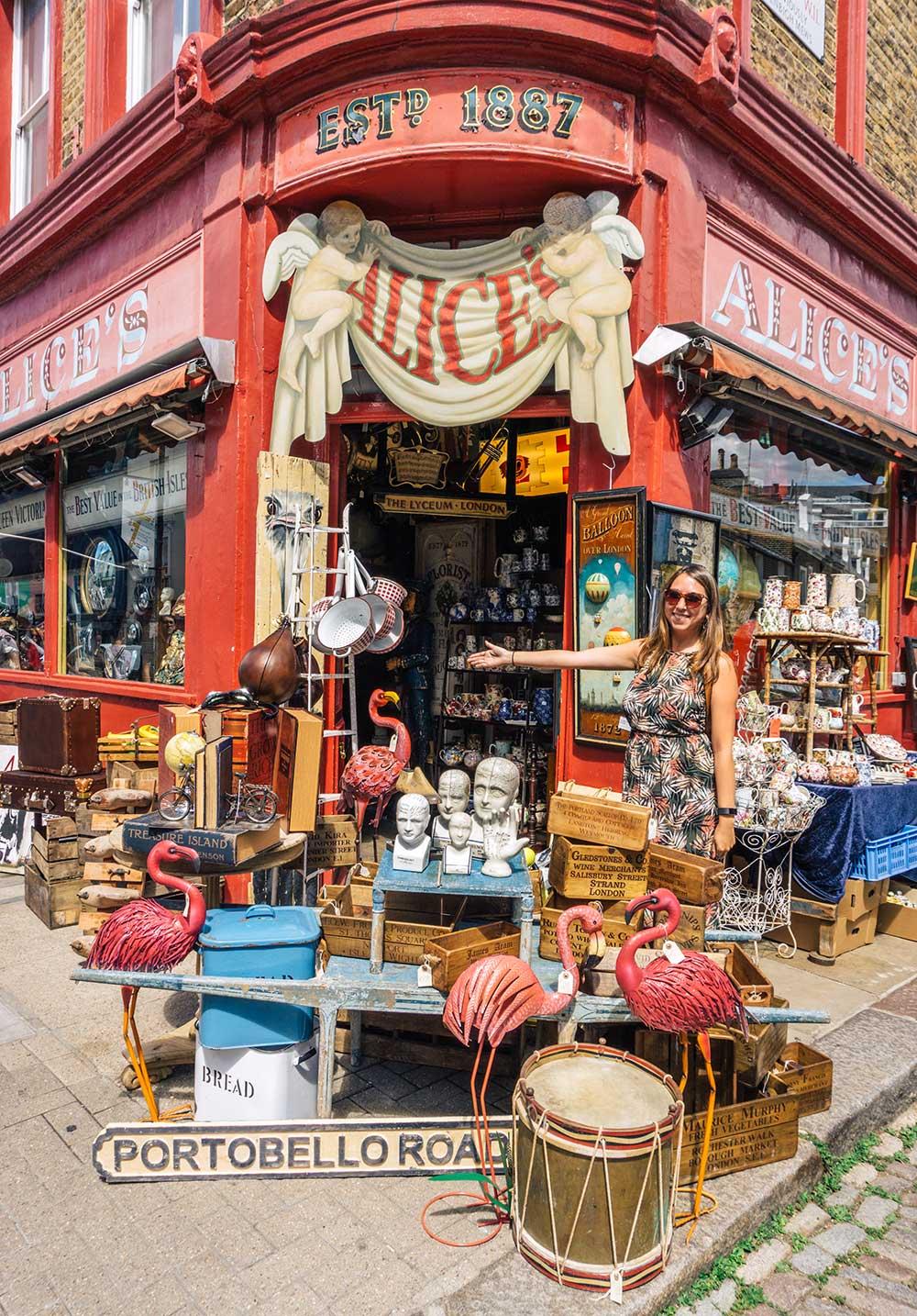 Alices - Portobello Road Market, Notting Hill, West London