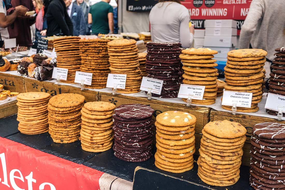 Southbank Centre Food Market chocolate cookies - Best Saturday markets in London