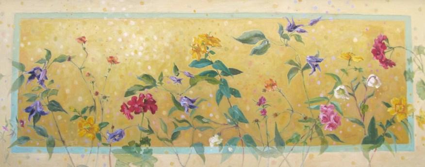 Flora, olieverf op paneel, 50x100 cm, 2015