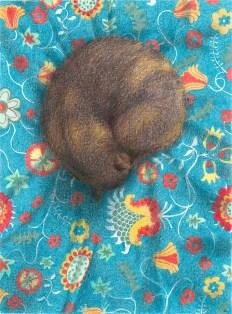 Koekie de kat en rosenrips, kleurpotlood op papier, 19.8x14.7 cm, 2019