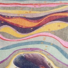 Gewicht, kleurpotlood op papier, 21.5x17cm,