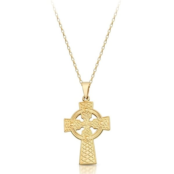 9ct Gold Celtic Cross - C05CL