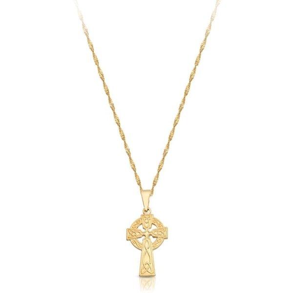9ct Gold Celtic Cross - C07CL