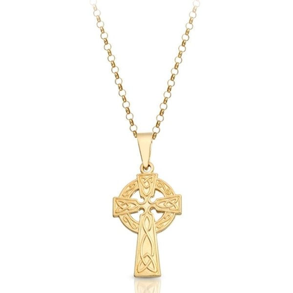 9ct Gold Celtic Cross - C08CL