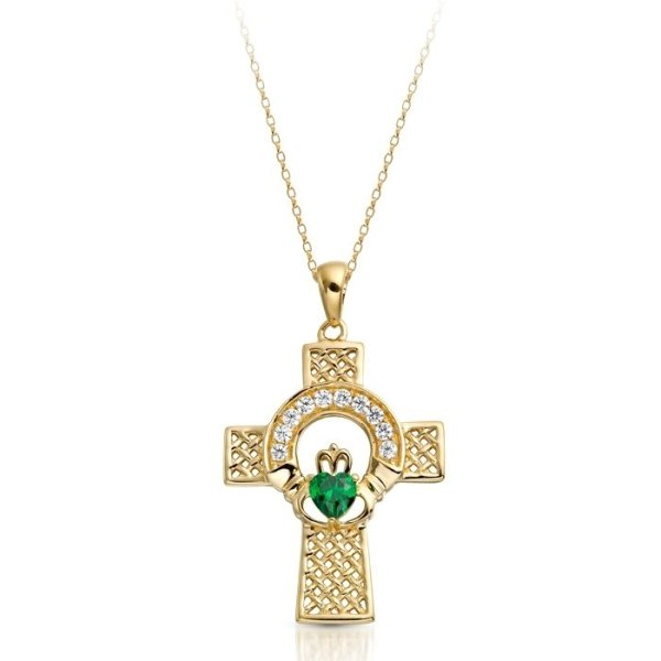 Gold Claddagh Cross-C126GCL