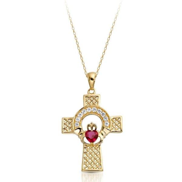 Gold Claddagh Cross-C126RCL