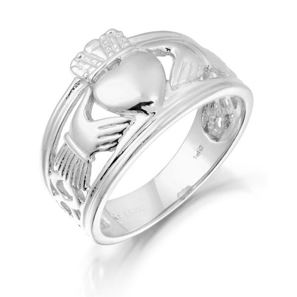 Gents Claddagh Ring-137AWCL