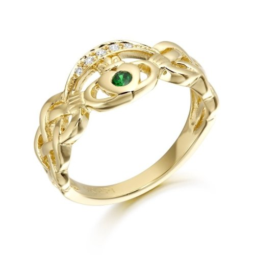 9ct Gold Claddagh Ring combined with Celtic Knot design - CL35CL