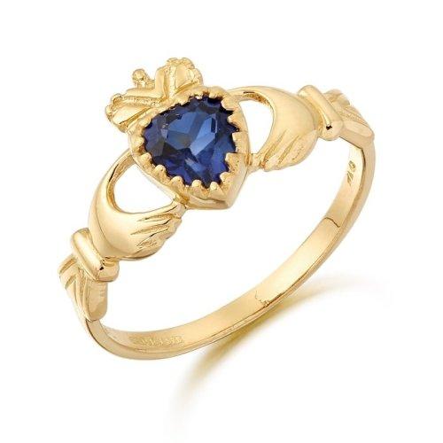 Sapphire Claddagh Ring
