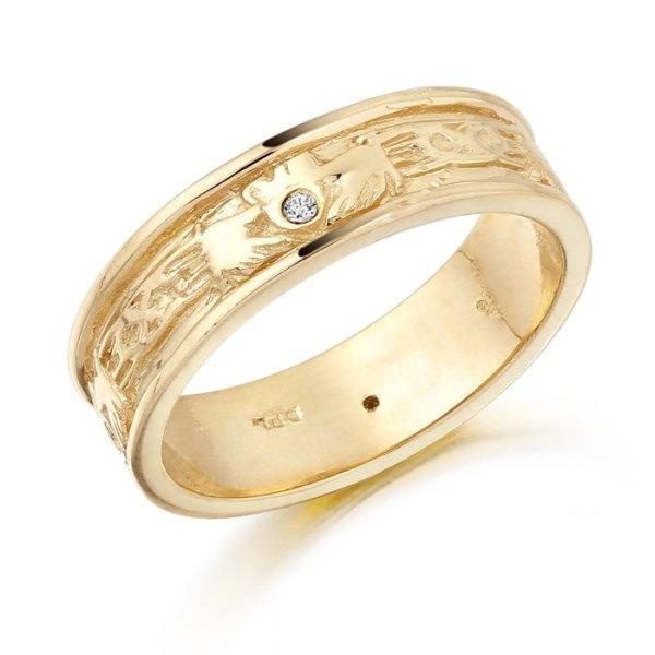 Claddagh Wedding Ring-CL23CL