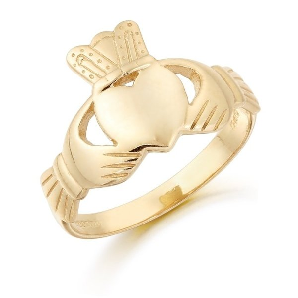 Gold Claddagh Ring-CL20CL