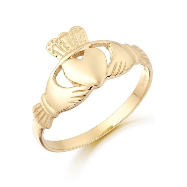 Gold Claddagh Ring-CL4CL