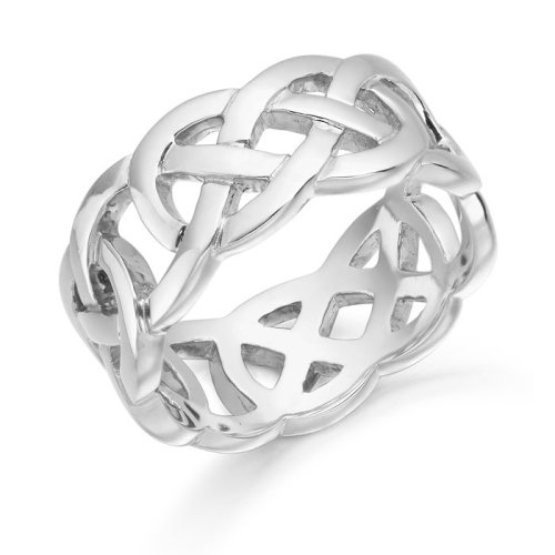 Silver Celtic Wedding Ring - S1519CL