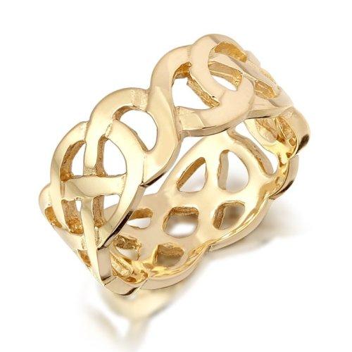 9ct Gold Unisex Celtic Wedding Band - 1517CL