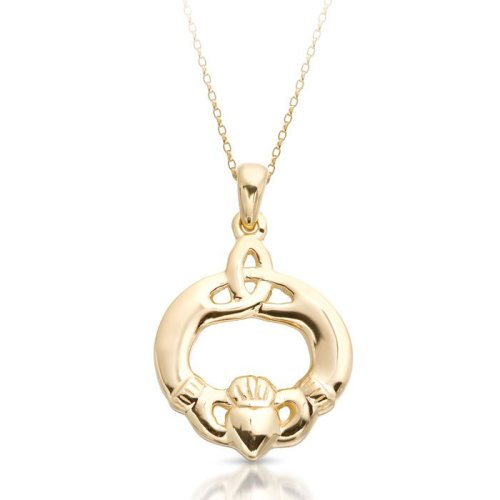 Claddagh Pendant with Trinity Knot