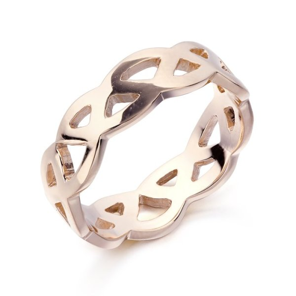 Rose Gold Celtic Ring-1518RCL