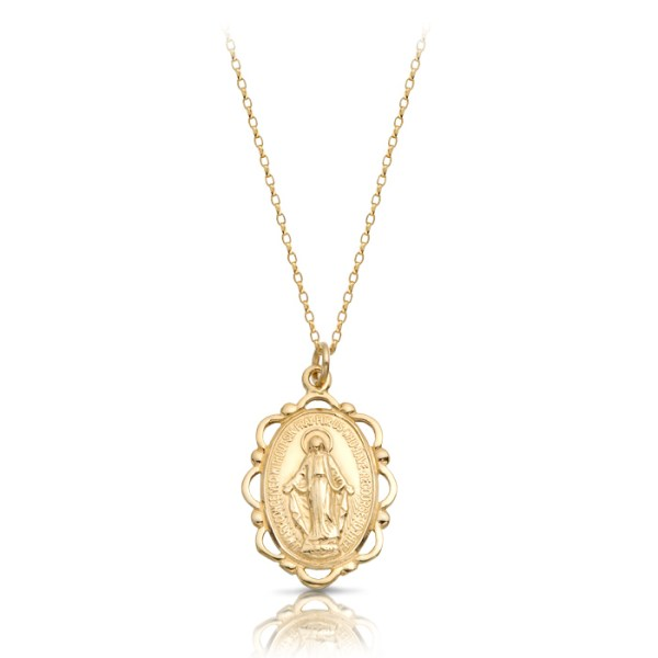 9K Gold Miraculous Medal-MM17CL