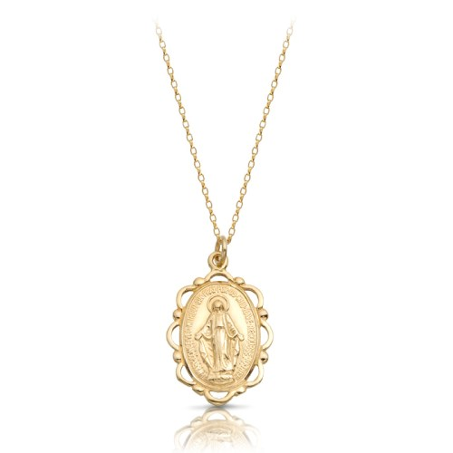 9ct Gold Miraculous Medal Pendant-MM17CL