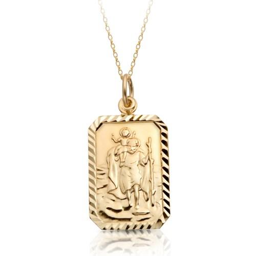 9ct Gold Saint Christopher Medal - ST1