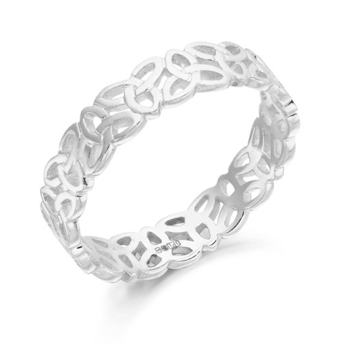 Silver Celtic Wedding Ring-S1520CL