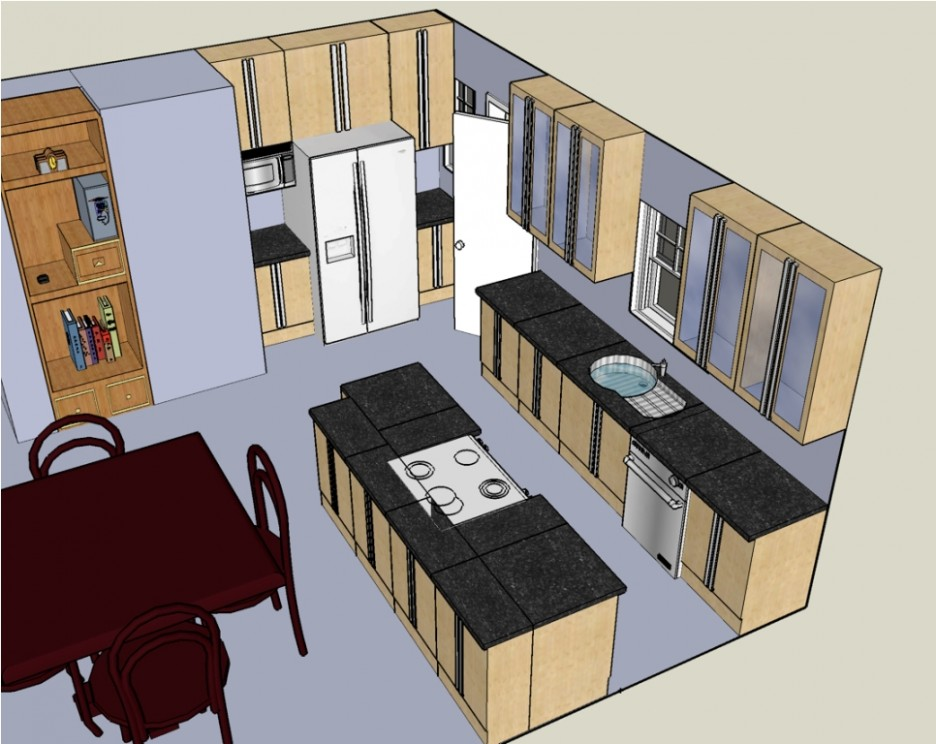 design new kitchen layout reclaimed wood cabinets small 3d country homes elegant your own plans in view with
